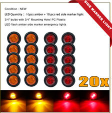 20 X Caravan LED SIDE MARKER CLEARANCE LIGHT Trailer 12V 24V - RED & AMBER