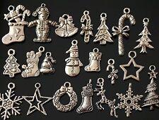 50x Misti Tibetan silver Natale Charms Ciondoli Misti (tsc107)