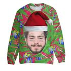 Post Malone Home Malone Home Alone Post Malone Ugly Christmas Sweater Funny Gift