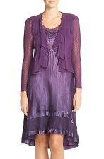 Komarov Charmeuse A-Line Dress & Chiffon Cascade Jacket Size L New $348