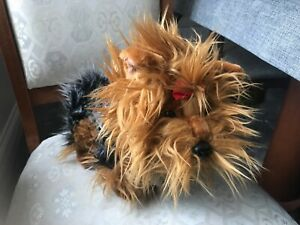 KEEL TOYS STANDING YORKIE ANNIE 40cm DOG SOFT TOY PLUSH NEW TAGS