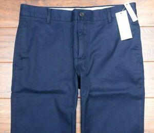 Lacoste Men's HH5741 Regular Fit Navy Cotton Chino Casual Pants W33 L32 EU 42