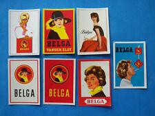 Etiquette d'allumette ancienne 7 matchbox label Belgique Belga cigarettes