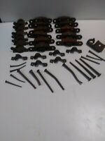 Vintage Antique mostly Cast Iron Window Sash locks and window rollers / nails