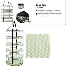"35"" x 6 Layer Clip On Collapsible Mesh Hydroponic Drying Dry Rack Net for Herb"