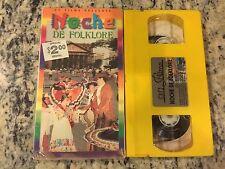NOCHE DE FOLKLORE RARE VHS 1996 SPANISH MARIACHI & DANCING HISTORICAL CUSTOMS