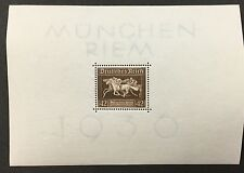 {BJ Stamps} GERMANY, B90, 1936, Horse Racing S/S, F-VF, OG, MNH. CV $25.00.