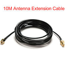 33ft RP-SMA Male To Female Wifi Antenna Connector Extension Cable Black 10M US
