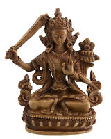 Manjushri Estatua Tibetano De Resina Buda 11 CM Marrón Claro 6041