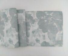 """Light Blue Flower Design Fabric Table Runner 9"""" X 53"""""""