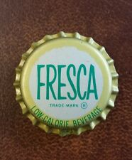 5 FRESCA COCA-COLA BOTTLING CO. UNUSED BOTTLECAPS cork lined SODA COLLECTORS
