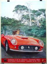 1994 Ferrari Club National Meet, Monterey CA official poster 250 SWB Cal Spyder