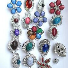 Wholesale & Job lots 10 Stunning Silver Tone Diamante Pin Brooches 4 Coat Hat