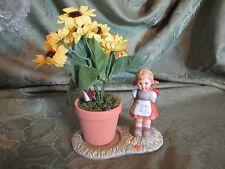 """Hummel Goebel sending my love flower holder 4.5"""" girl figurine delicate pretty"""