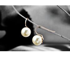 Clásico Pendientes de perlas Pendientes Oro Chapado perla nácar blanco
