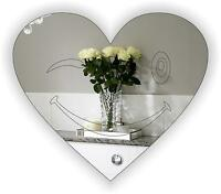 """""""Acrylic Mirror"""" -Heart Shaped Engraved """"PACK OF 6"""" for indoor/Outdoor FREE PP"""