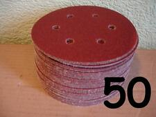 "50 - 150mm - 6"" - Velcro Sanding Discs - 80 Grit - DA Sander Pads - 6 hole"