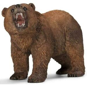 Schleich Hand Painted Animal Figure Plastic Kids Age 3-8 Years Grizzly Bear 11cm