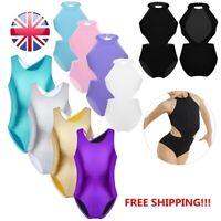UK Kids Girls Ballet Dance Dress Gymnastics Leotard Bodysuit One-piece Costumes