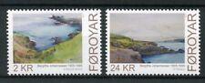 Faroes Faroe Islands 2011 MNH Paintings Bergitte Johannessen 2v Set Art Stamps