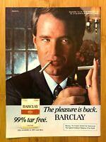 1981 Barclay Cigarettes Pleasure Vintage Print Ad/Poster Pop Art Man Cave Decor