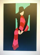 """Hand signed and numbered serigraph, """"Red Pants"""" by Amleto dalla Costa"""