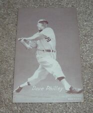 Vintage DAVE PHILLEY Exhibit Baseball Card Chicago White Sox Made in USA