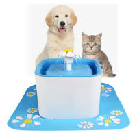 Cube Flower Automatic Electric 2.5L Pet Water Fountain Dog Cat Drinking Bowl US