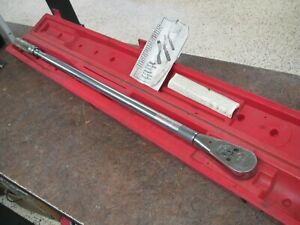 "Snap-On QD4R600 3/4"" Drive 120-600ft-lb 43"" Long Calibrated in Case"