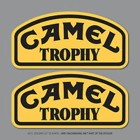 2 X CAMEL TROPHY Jeep 4x4 & Land Rover Decals Stickers - 150mm x 73mm - SKU2473