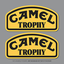 SKU2473 - 2 X CAMEL TROPHY Jeep 4x4 & Land Rover Decals Stickers - 150mm x 73mm
