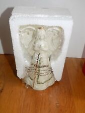Lenox Holiday Porcelain Praying Angel Bell 5.75""