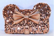 Disney Exclusive Rose Gold Minnie Bow Apple Iphone 7/8 Cellphone Case Wallet NEW