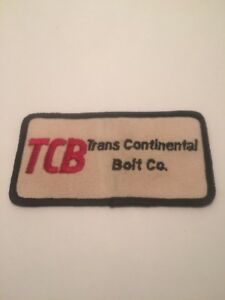 """Vtg TCB Trans Continental Bolt Oil Gas  4"""" Patch Sew On Fuel Additive Engine"""