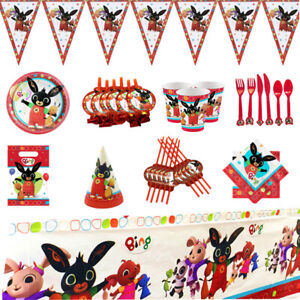Bing Bunny Rabbit Birthday Party Decorations Bundle Party Tableware Set Pack