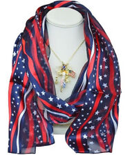 KIRKS FOLLY FREEDOM ANGEL PIN PENDANT WITH FREE NECKLACE and SCARF  (Goldtone)