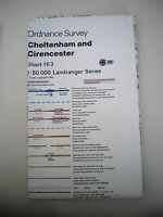 Ordnance Survey Landranger Map Sheet 163 - Cheltenham & Cirencester