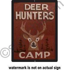DEER HUNTERS CAMPSIGN / ALUMINUM / MANCAVE DECOR, HUNTING SIGNS / hunting,buck