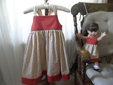 New! Pretty Matching dresses for girl size 8 and American Girl doll