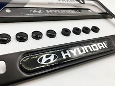 Premium Black License Plate Frame for HYUNDAI Genesis Sonata Accent Tucson IONIQ