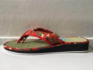 New Ladies Zori Geta Sandals Japanese Traditional Igusa Tatami Made in Japan LL