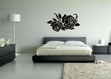 Wall Sticker Mural Decal Vinyl Decor Two Roses Beautiful Flowers