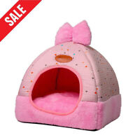 Pet Dog Cat Tent House Kennel Winter Warm Nest Soft Foldable Sleeping Pad