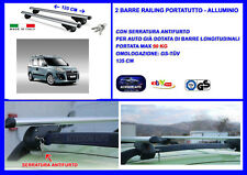 Kit Barre Portatutto -Portapacchi -Portabagagli FIAT Doblo'  dal 2000>2010