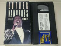 Luther Vandross Live At Wembley Vhs Original Music Release Tape Plays Perfect