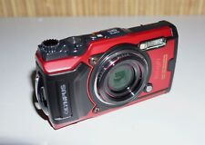 Olympus Tough TG-6 12.0MP Kompaktkamera - Rot und LG1 Lichtleiter neu