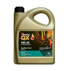 Triple QX SynPlus SAE 5W30 Fully Synthetic Car Engine Oil 5L Ford Spec 5 Litre