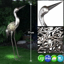 Luxus LED Steh Solar Lampen Stand Kranich Beleuchtung Garten Deko Grundstück