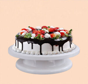 Kitchen Cake Stand Decorating Icing Rotating Revolving Turntable Display  28CM