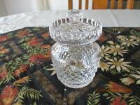 Waterford Crystal 10cm Tall Lidded Sugar Bowl